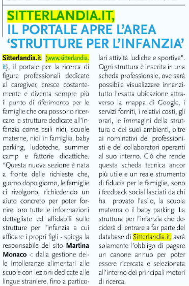 Sitterlandia.it, il portale apre l'area